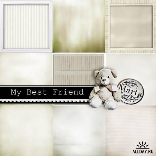 Скрап-набор My best friend