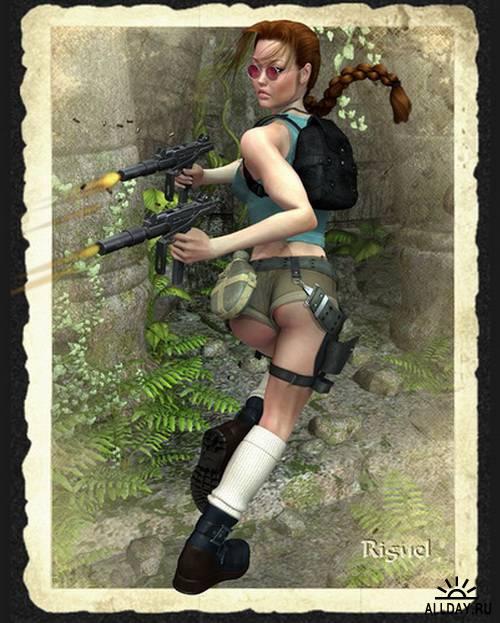 3D military girls - Designer Riguel