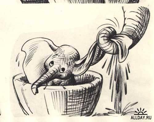 Дамбо - материалы из коллекции студии Walt Disney
