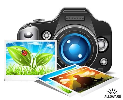 Векторный клипарт - Фото и киноаппараты