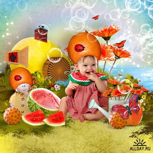 Scrap kit Fruits Village