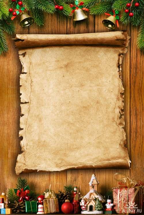 Новогодние рамки 4 - Растровый клипарт | Christmas Frames 4 - UHQ Stock Photo