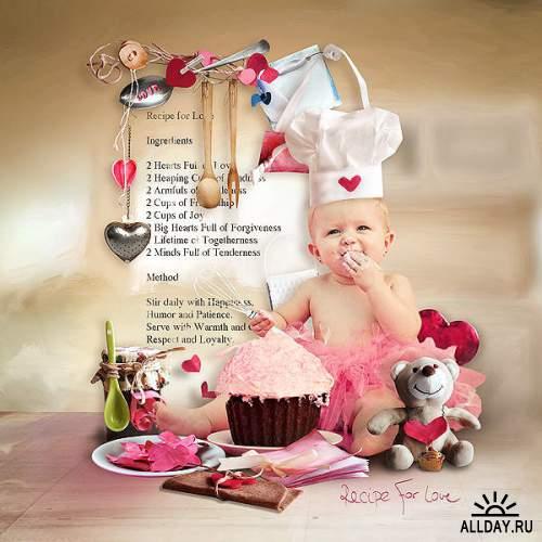 Скрап-набор Recipe For Love