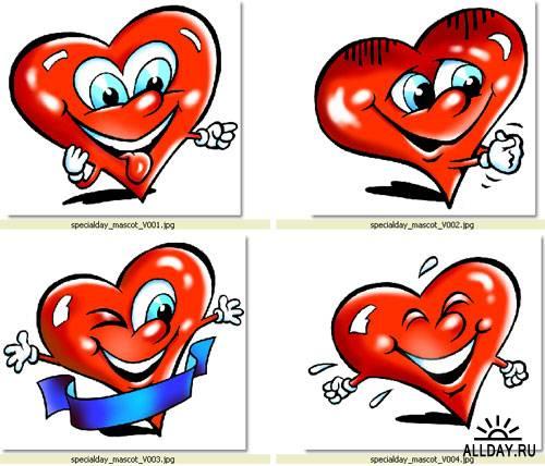 Сердце, кулоны...