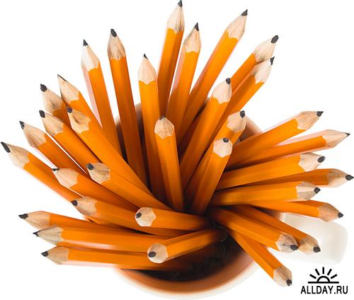 Pencils - colored, waxy, simple and mechanical | Карандаши - цветные, восковые, простые и механические