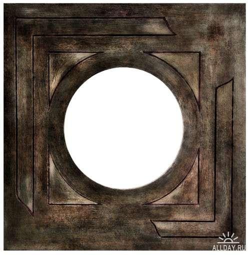 Round frame cutouts | Круглые рамки-вырезы - Набор элементов для коллажей
