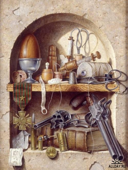 Натюрморты и экспозиции - работы художников