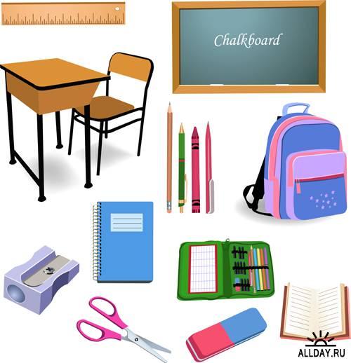 Школа - Векторный клипарт | School - Stock Vectors