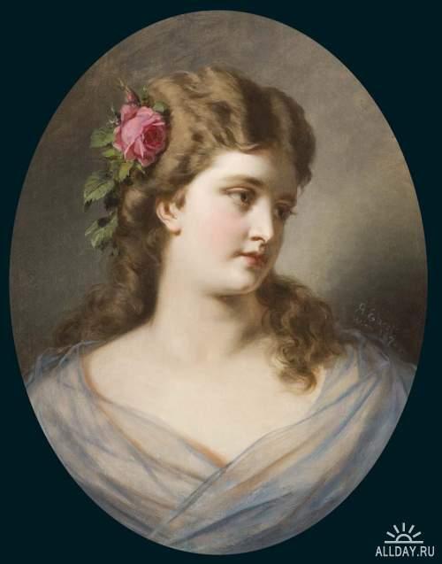 Немецкий художник Anton Ebert (1845–1896)