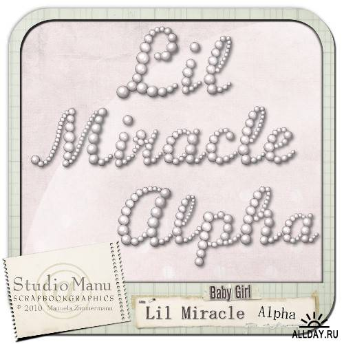Scrap kit  Lil Miracle (Baby Girl)
