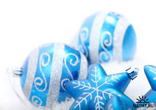 Фотосток - Новогодние голубые игрушки