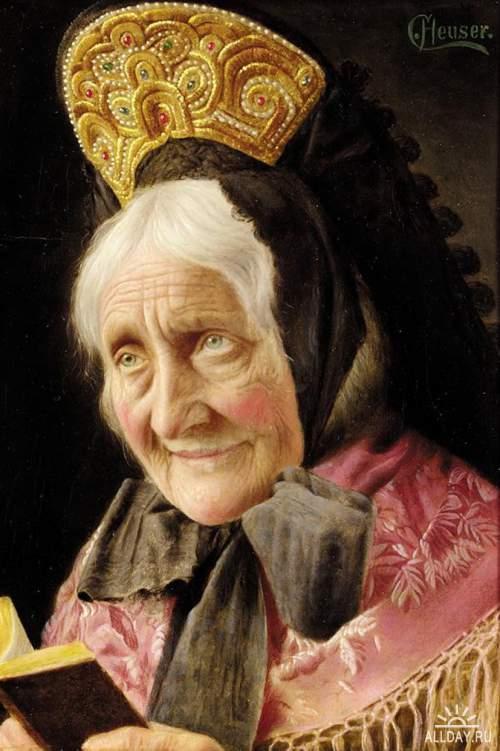 Немецкий художник Carl Heuser (1827-1892)
