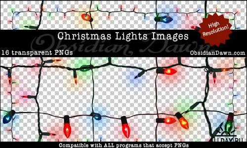 Новогодние украшения и гирлянды на прозрачном фоне / Christmas Ribbons & Ornaments Transparent PNGs