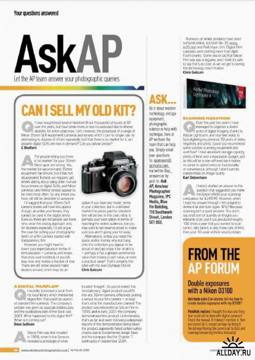 Amateur Photographer 16 March 2013