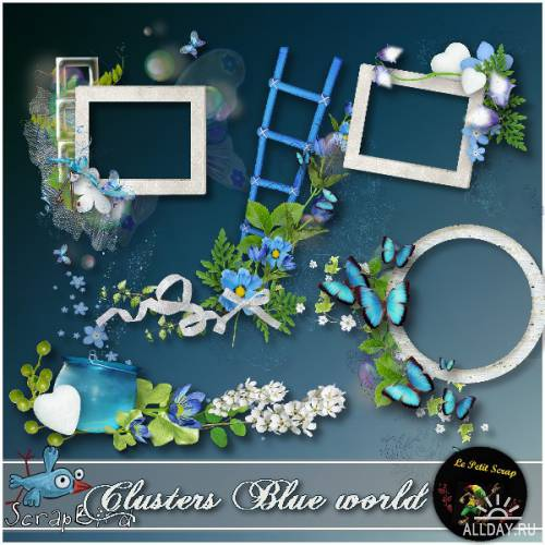 Scrap kit  Blue World