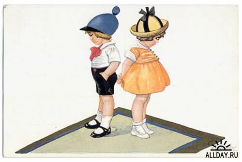 Retro Children Postcards