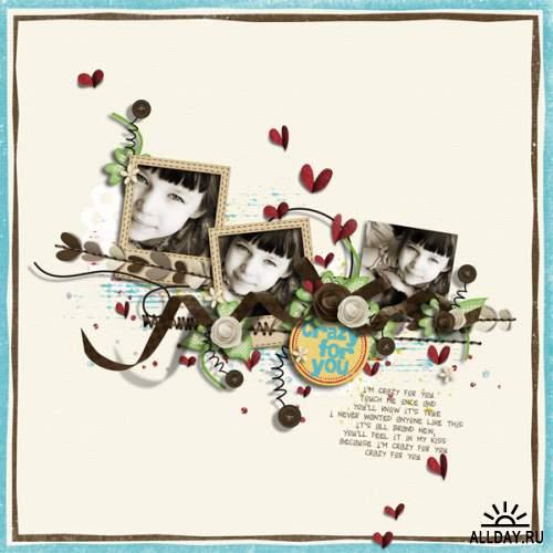 Скрап-набор Kitschy hearts (Повторная публикация!)