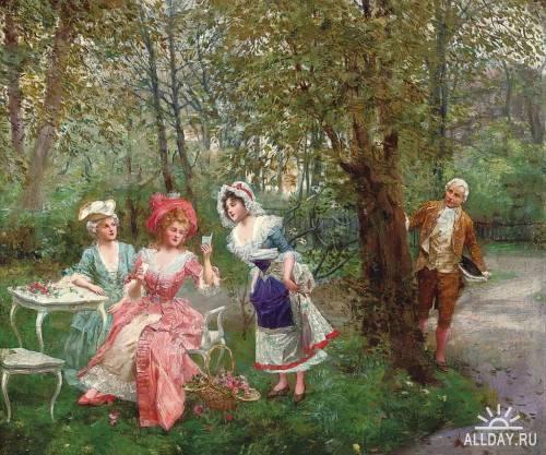 Испанский художник Mariano Alonso-Perez (1857-1930)