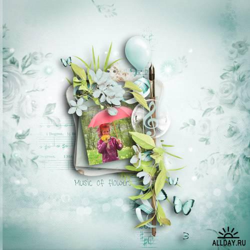 Скрап-набор Music of flowers