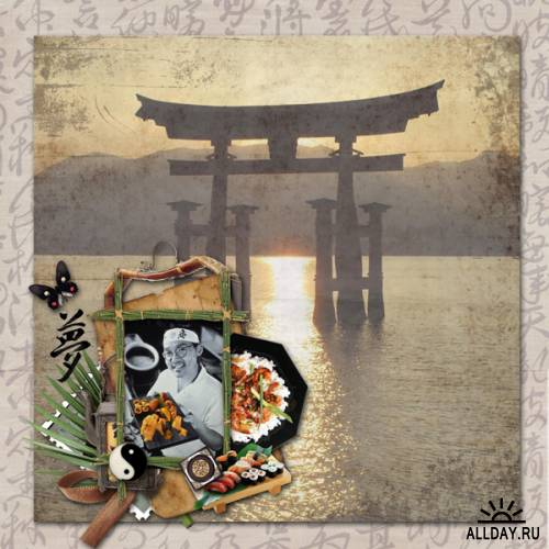 Scrap kit Country of the Rising Sun