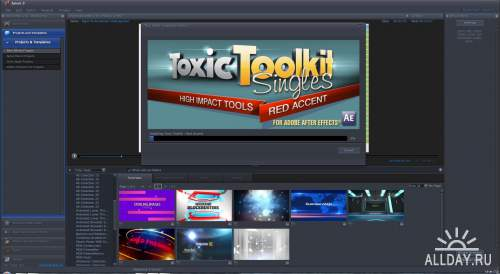 Digital Juice - Toxic Toolkit Singles - Red Accent (.djprojects)