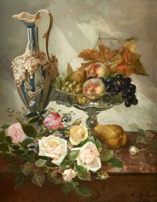 Натюрморты Alexandre Debrus (1843-1905)