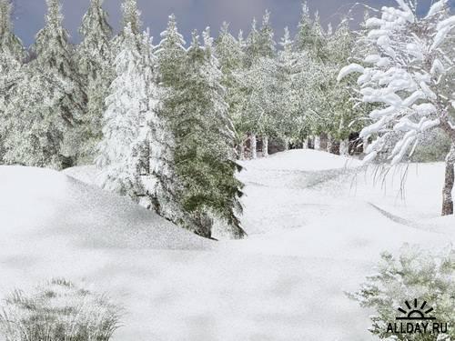 Winter backgrounds 2 | Фоны - зима и снег 2