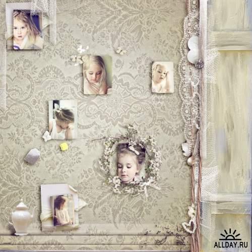 Скрап-набор The white rose tea room