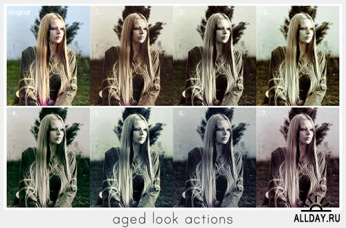Decadence & Aged look Photoshop actions