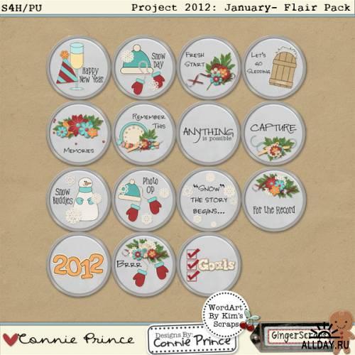 Scrap kit  Project 2012: January