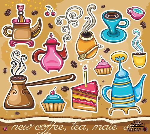 Кофе - Векторный клипарт | Coffee - Stock Vectors