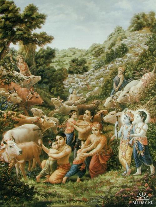Индия - картины на тему Бхагавата Пураны