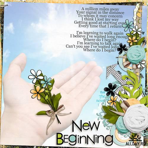 Скрап-набор Time For Beginnings