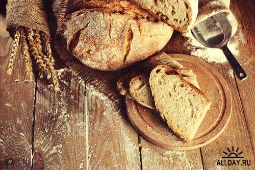 Еда. Мега коллекция. Хлеб и пшеница #8 - Растровый клипарт