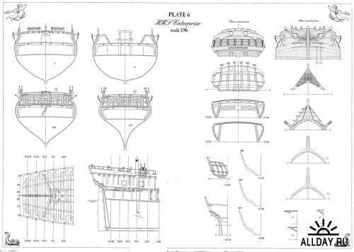 Чертежи корабля фрегата Ентерпрайс