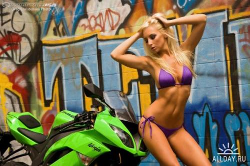 Wallpapers Girls Bikes